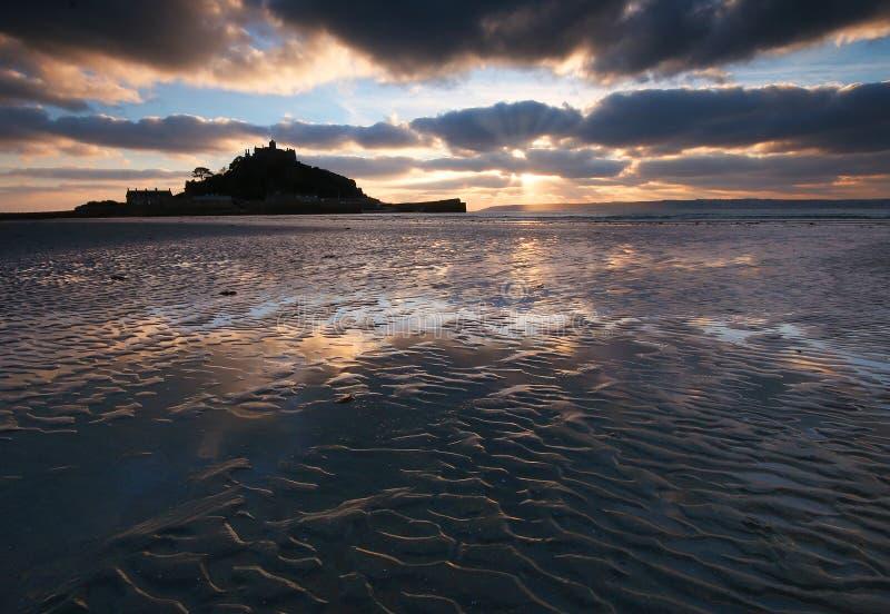 St Michaels zet Cornwall het UK op stock afbeelding