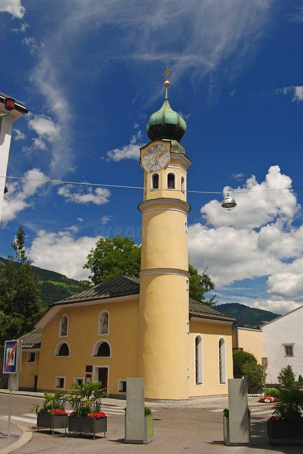 St Michaelskirche in Lienz stock afbeelding