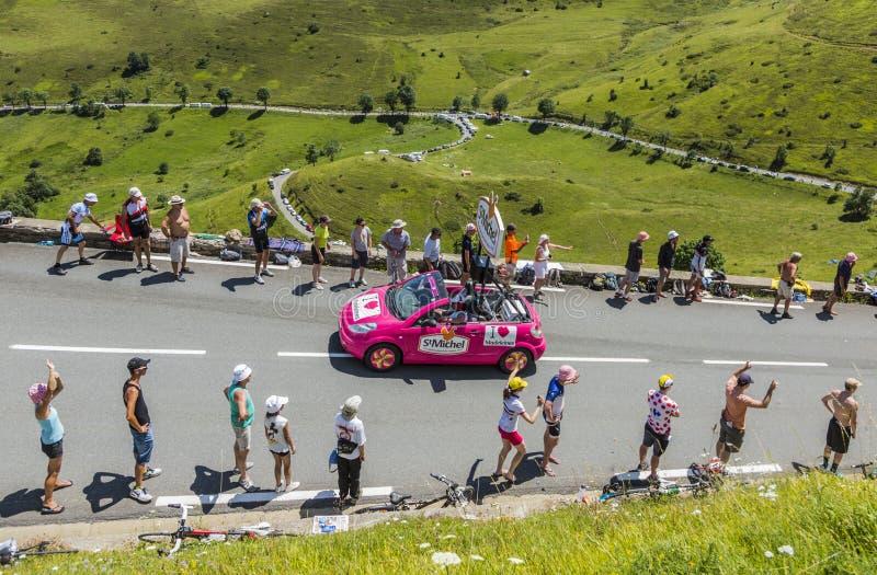 St Michel Madeleines Caravan - Tour de France 2014 arkivfoto