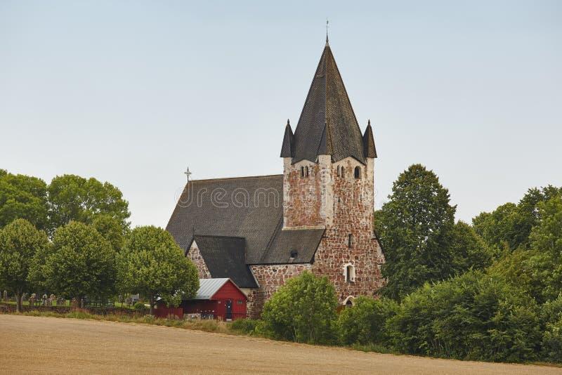 St Mikacis kerk in Finstrom De archipel van Aland Finland heritag royalty-vrije stock fotografie
