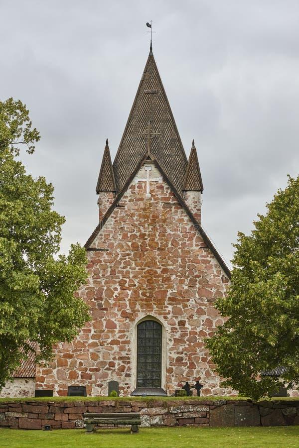 St Mikacis kerk Finstrom De archipel van Aland Finland heritag stock fotografie