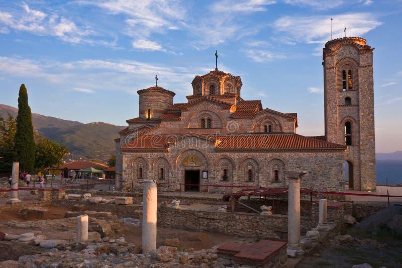 St. mild Klooster bij Zonsondergang stock afbeeldingen