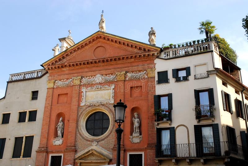 St Milde kerk in Padua in Veneto (Italië) stock foto's