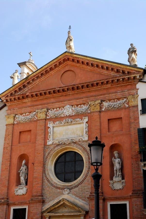 St Milde kerk in Padua in Veneto (Italië) stock afbeelding
