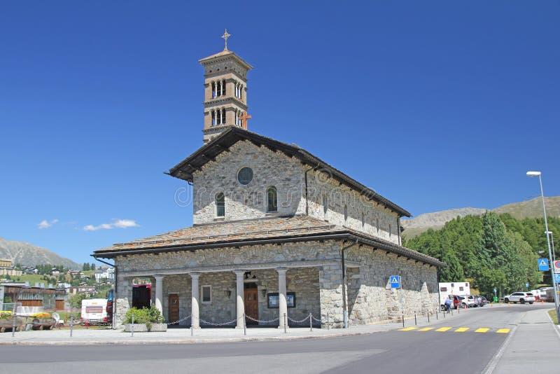 st moritz церков стоковые изображения