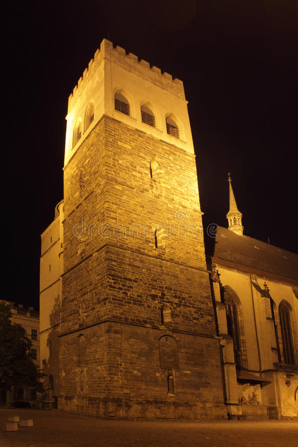 St Moritz kerk in Olomouc royalty-vrije stock fotografie