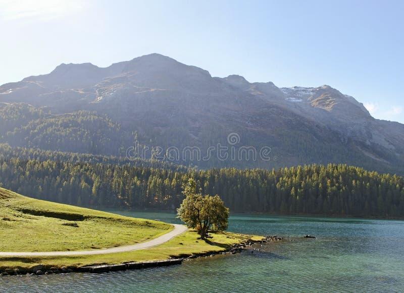 St Moritz lake. stock images