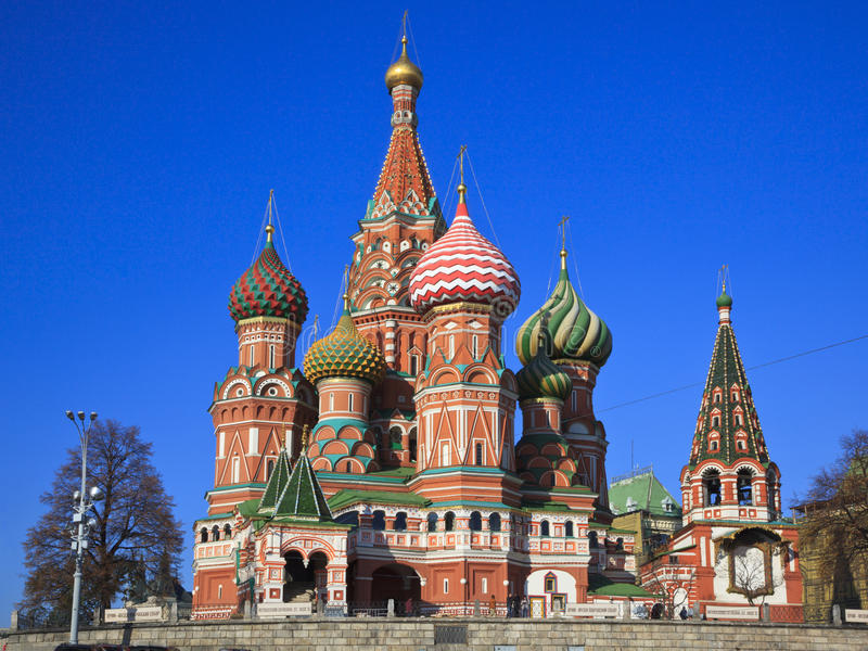 st moscow красный s собора базилика квадратный стоковое фото
