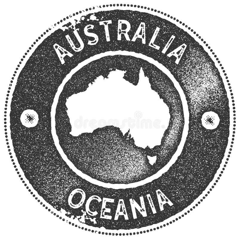 St?mpel f?r Australien ?versiktstappning stock illustrationer
