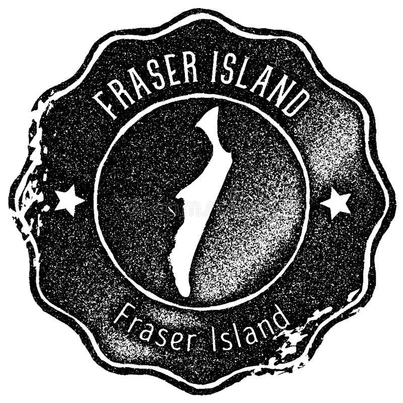 St?mpel f?r Fraser Island ?versiktstappning stock illustrationer