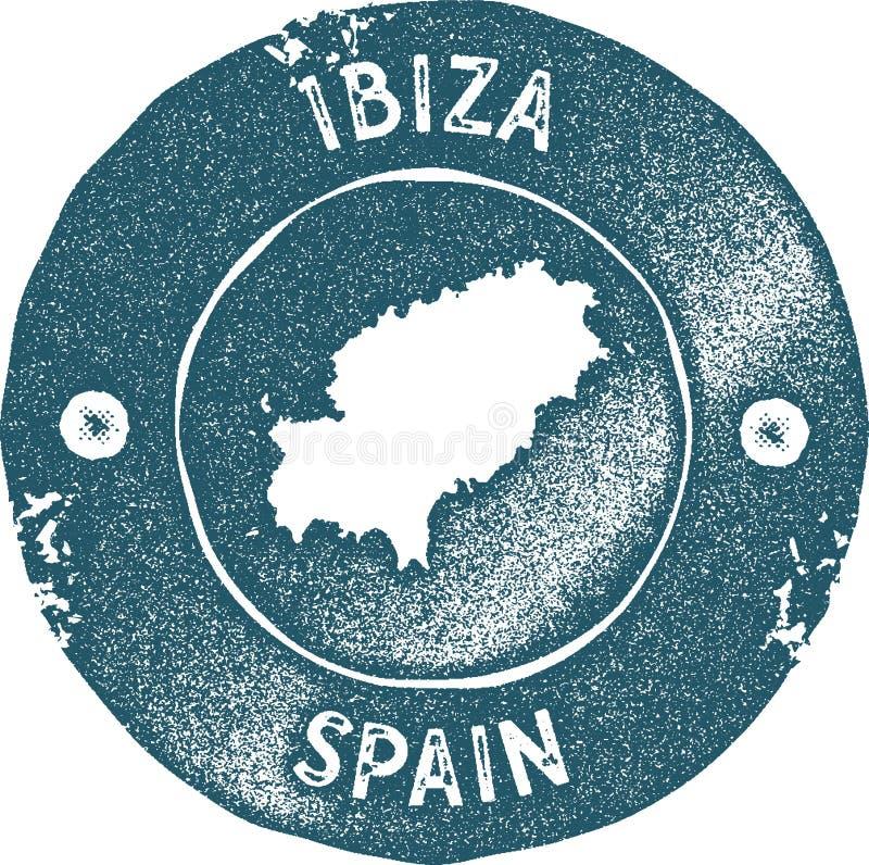 St?mpel f?r Ibiza ?versiktstappning stock illustrationer