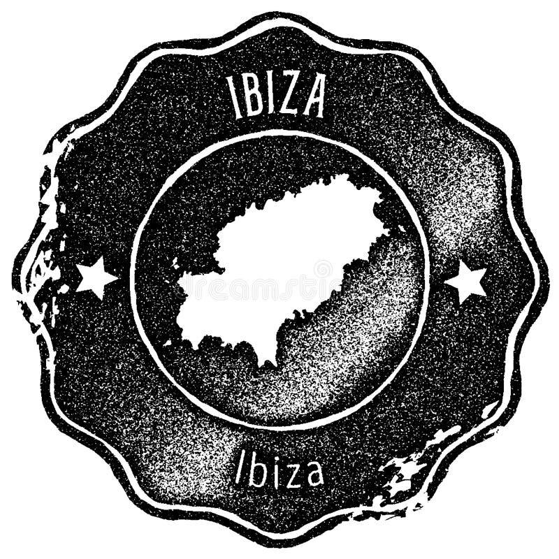 St?mpel f?r Ibiza ?versiktstappning vektor illustrationer