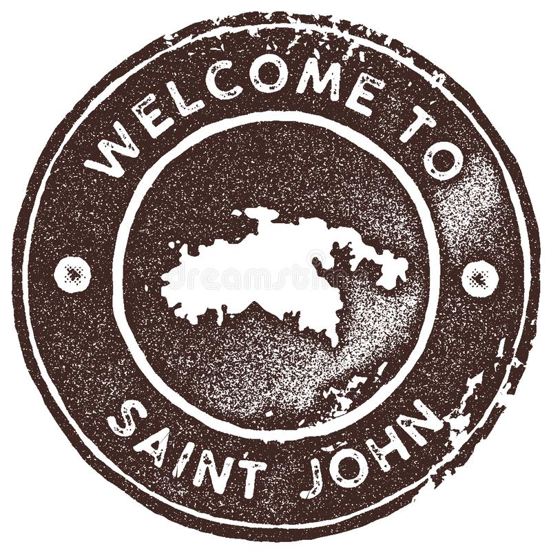 St?mpel f?r St John ?versiktstappning stock illustrationer