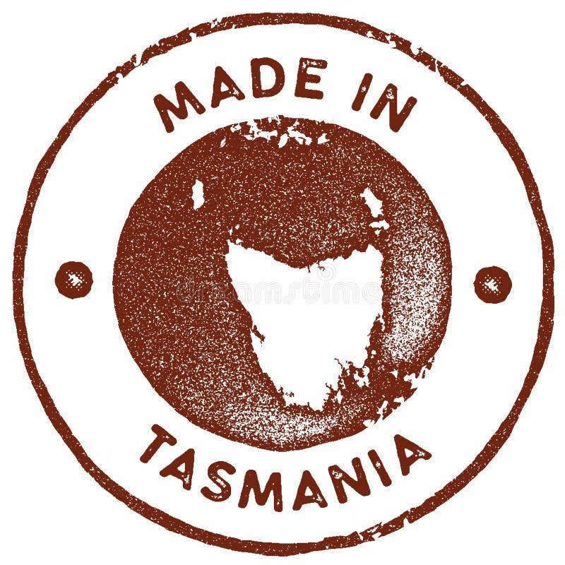 St?mpel f?r Tasmanien ?versiktstappning stock illustrationer