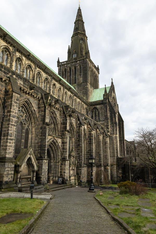 St Mungo ` s Glasgow Cathedral op Kasteelstraat royalty-vrije stock foto's