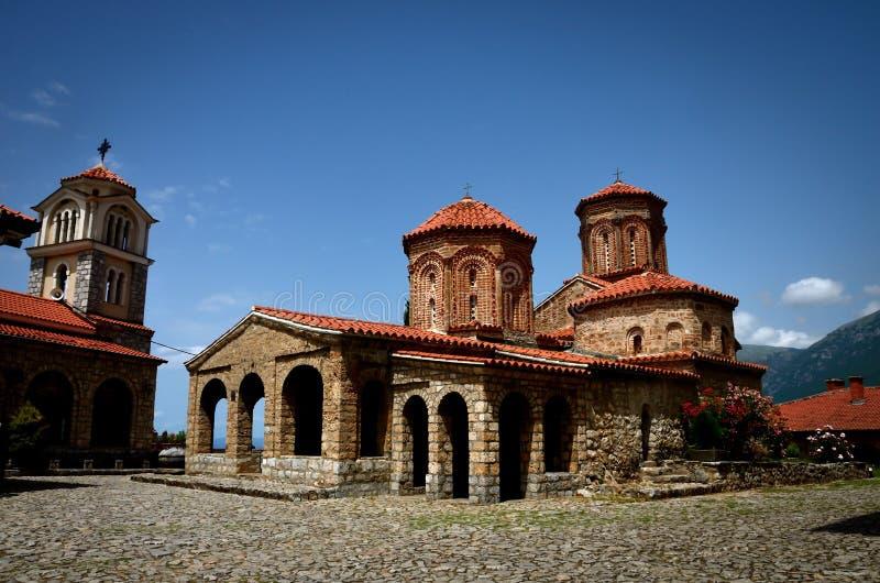 St Naum monaster blisko Ohrid, Macedonia fotografia stock