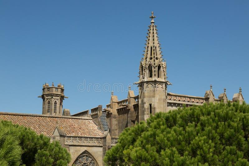 St Nazaire, Carcassonne, Frankrike arkivfoto