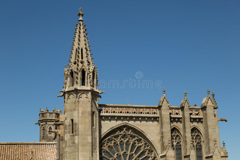 St Nazaire, Carcassonne, Frankrike royaltyfria foton