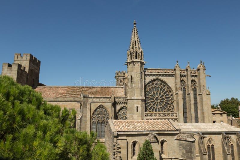 St Nazaire, Carcassonne, Frankrike royaltyfri foto