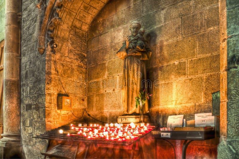 St Nazaire och St Celse på Carcassonne, Frankrike royaltyfri bild