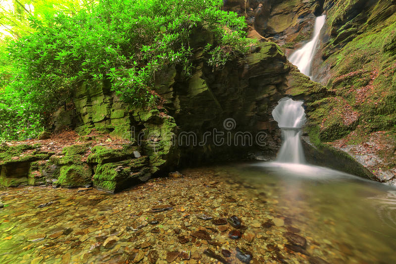 St Nectan's Glen, Tintagel, Cornwall. royalty free stock images