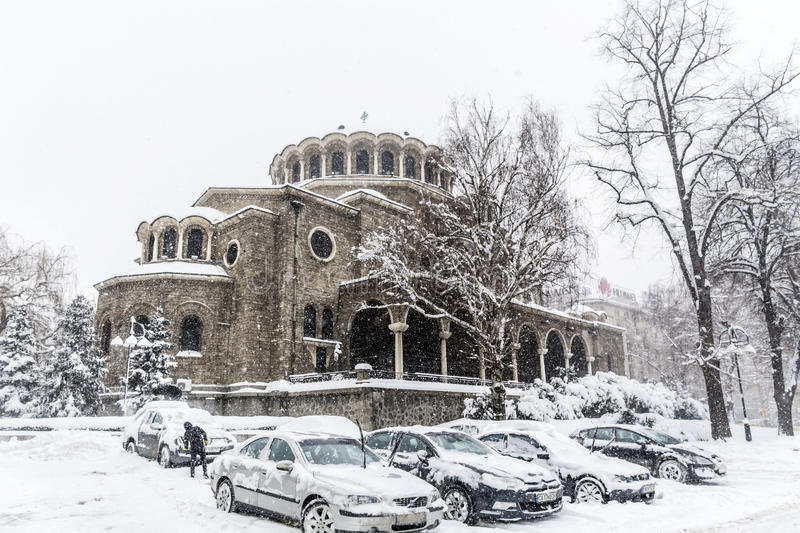 Download St. Nedelya Church  Covered With Snow Editorial Stock Photo - Image: 83719963