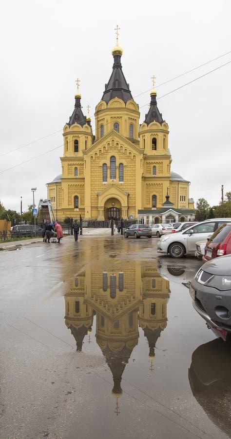 St nevski,亚历山大大教堂在下诺夫哥罗德,俄联盟 库存照片