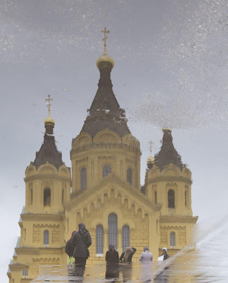 St-nevski, alexander domkyrka i Nizhny Novgorod, ryssfederation arkivbilder