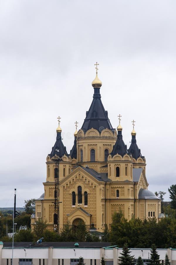 St nevski, de kathedraal van Alexander in nizhny novgorod, Russische federatie royalty-vrije stock afbeelding