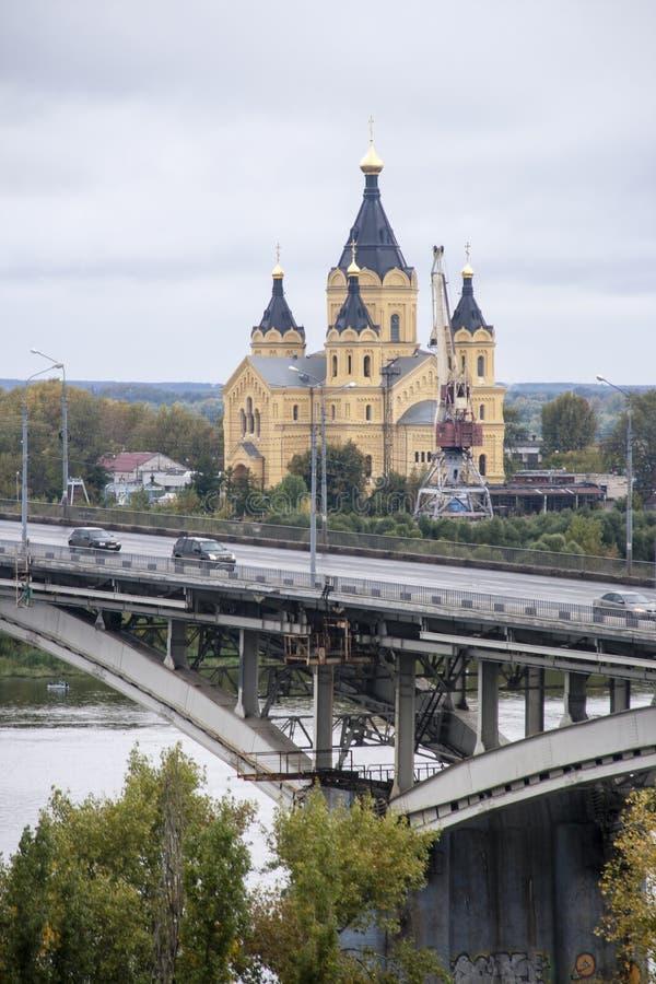 St nevski, de kathedraal van Alexander in nizhny novgorod, Russische federatie royalty-vrije stock fotografie