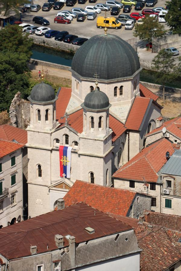 St Nicholas' Kerk in Kotor, Montenegro royalty-vrije stock foto