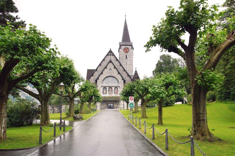 st nicholas церков Balzers, Лихтенштейн стоковое фото rf