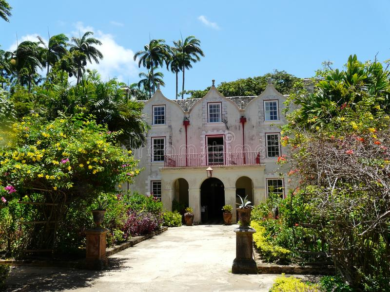 St Nicholas Abbey in Barbados stock foto