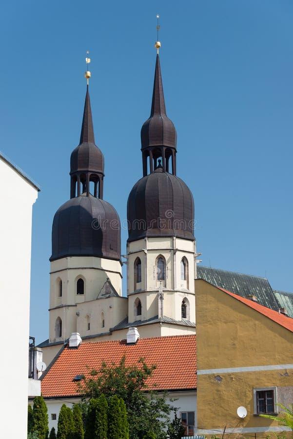 St. Nicholas Basilica in Trnava, Slovakia. The gothic St. Nicholas Basilica building in the eastern part of the historical center of Trnava, Slovakia royalty free stock image