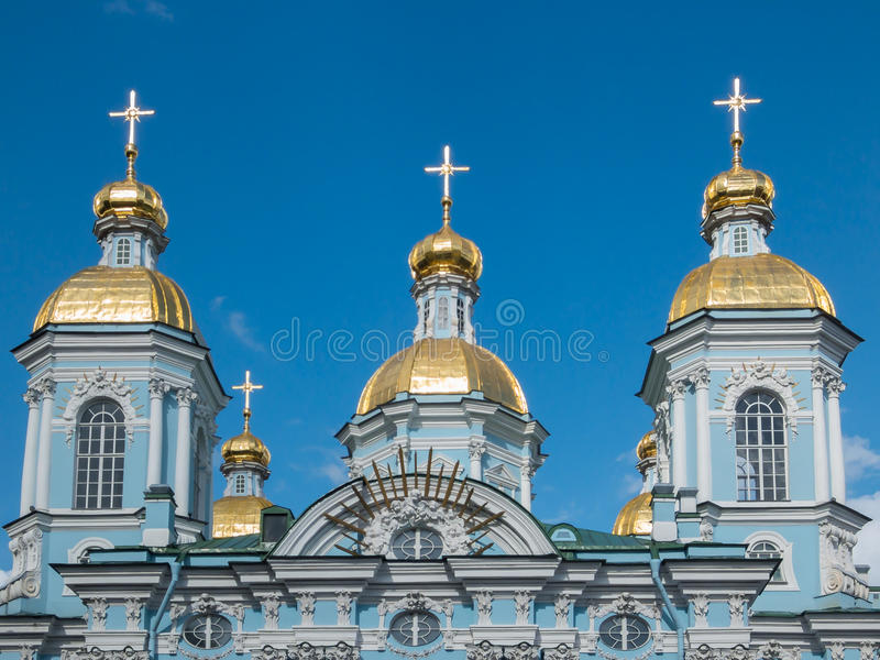 St Nicholas Cathedral di St Petersburg immagine stock