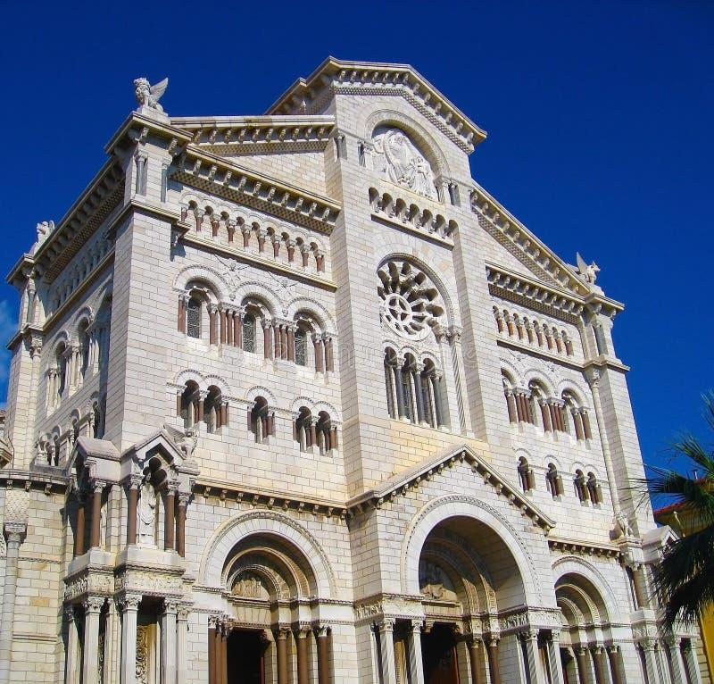 St Nicholas Cathedral i Monaco Ville i Monaco Monte - carlo, ` Azur för skjul D royaltyfri foto