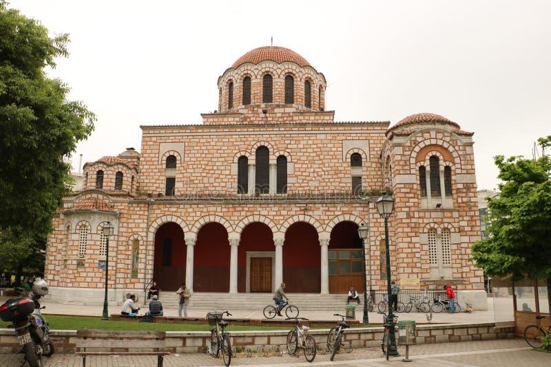 St Nicholas Cathedral i Volos royaltyfri foto