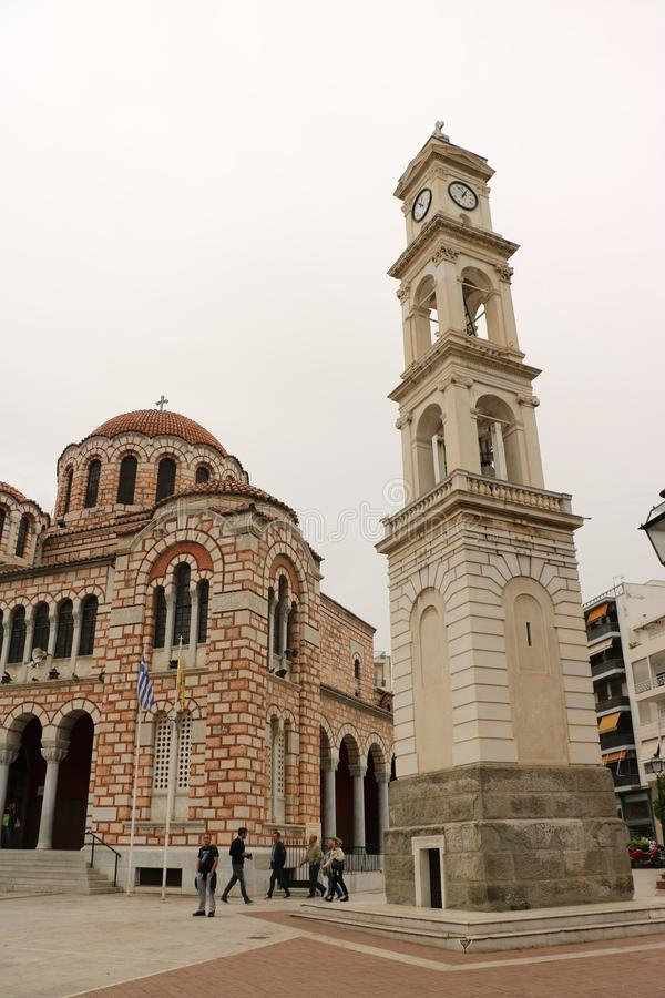 St Nicholas Cathedral i Volos royaltyfria foton