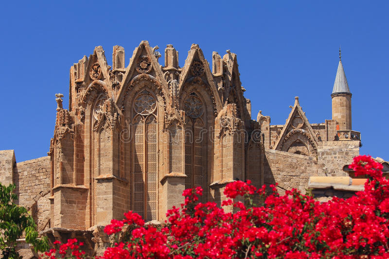 St. Nicholas Cathedral (Lala Mustafa Mosque). Famagusta, Cyprus royalty free stock photography