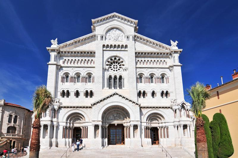 St. Nicholas Cathedral, Monaco Cathedral, Monaco Ville, Old Town, Le Rocher The Rock, Monaco. stock photos