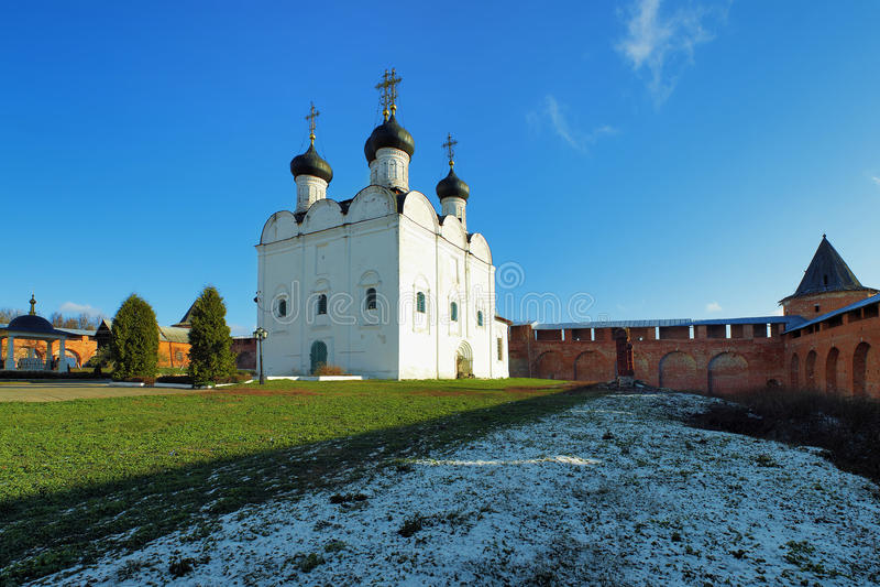 St. Nicholas Cathedral in Zaraysk het Kremlin stock fotografie