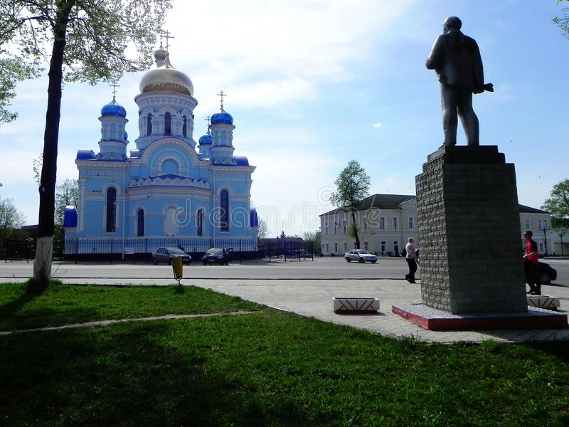 St Nicholas Chernoostrovsky klooster in Kaluga oblast een Heilige plaats royalty-vrije stock foto