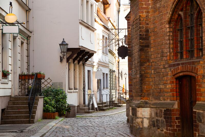 St. Nicholas` Church alley in Berlin, Germany. Europe stock image