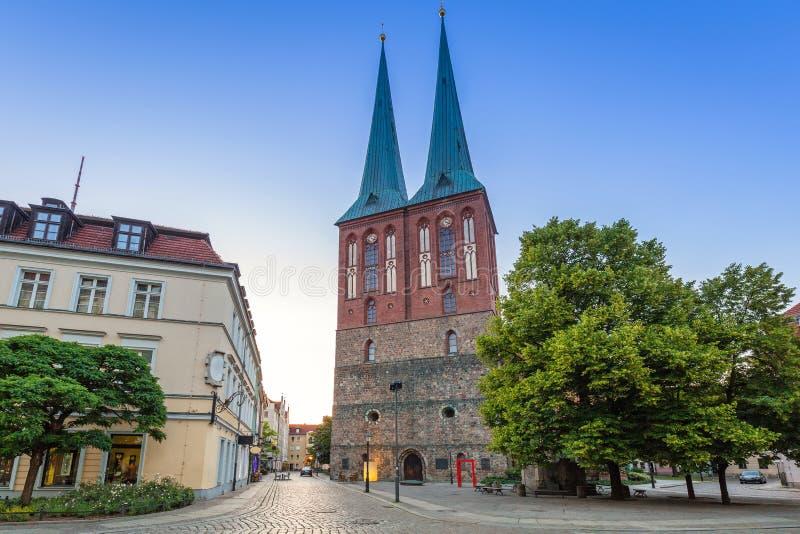 St Nicholas Church a Berlino immagine stock