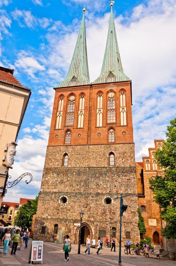 St Nicholas Church Berlino - in Germania fotografia stock libera da diritti