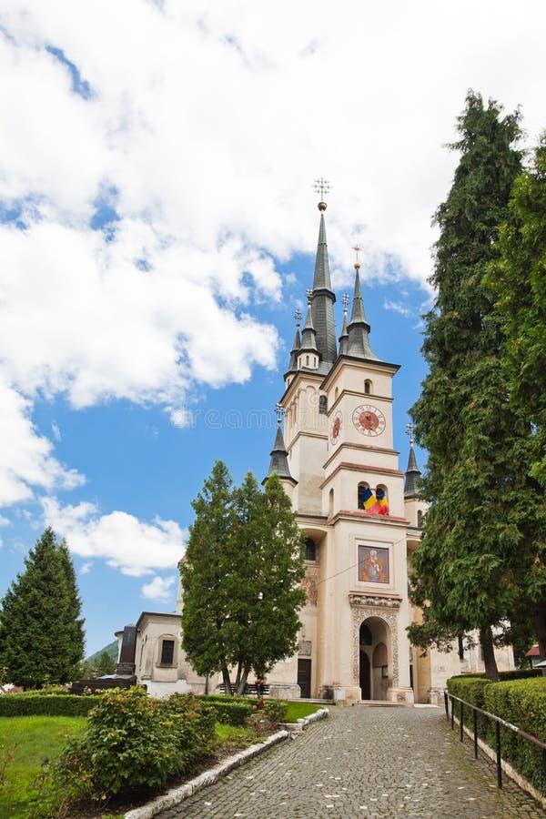 St. Nicholas Church in Brasov stock photography
