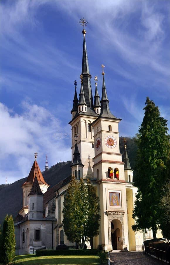 The St Nicholas Church, Brasov, Romania Stock Photos