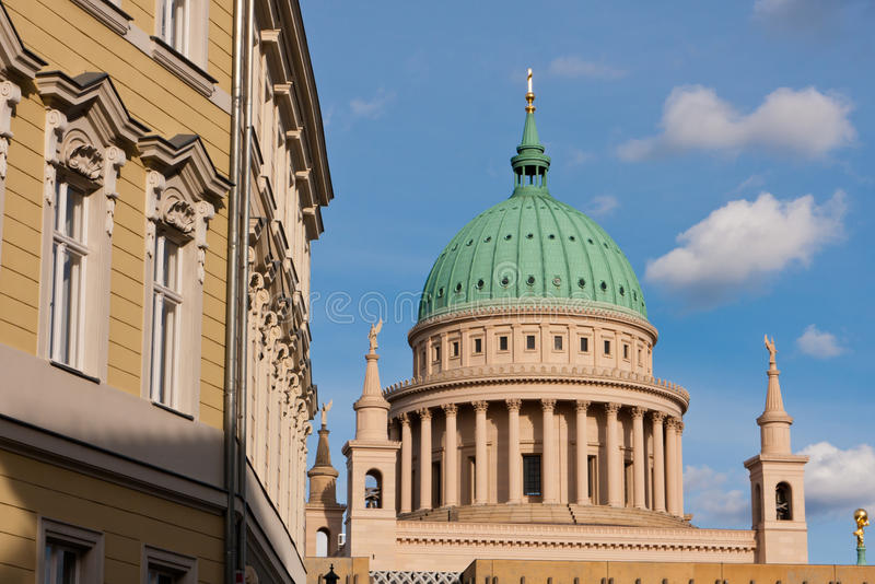 St. Nicholas Church, Duits Potsdam, royalty-vrije stock foto's