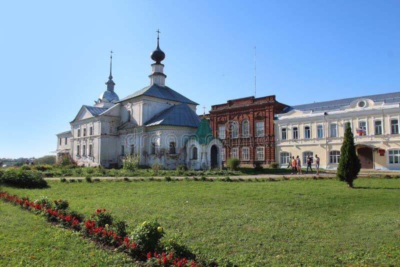 St Nicholas Church eller kyrka av St Nicholas Wonderworkeren, i Suzdal, Ryssland royaltyfria foton