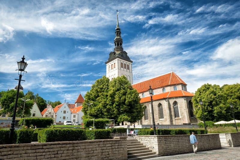 St Nicholas Church em Estônia, Tallinn imagens de stock royalty free